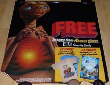 E.T. THE EXTRA TERRESTRIAL 1982 VINTAGE REESE'S PIECES T SHIRT PROMO POSTER