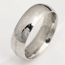 stainless steel Lord of the Ring Size 7 Band Ring jewelry free shipping