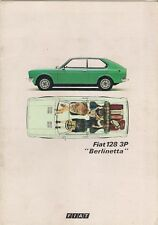 Fiat 128 3P Berlinetta 1975-76 UK Market Sales Brochure 1100 1300
