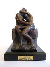 Skulptur Bronze Der Kuss nach einem Werk von RODIN Reproduktion 13,5 cm hoch