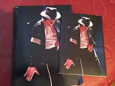 2 Michael Jackson Billie Jean Notebooks & 10 1980s Collector Cards