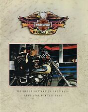 1991 HARLEY Clothes/Collectibles Catalog/Brochure:LEATHER JACKET,HELMET,BELT,TOY