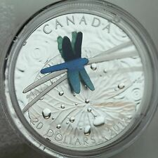 Canada 2017 $20 Nature's Adornment: Niobium Dragonfly on 1 oz. Pure Silver Proof