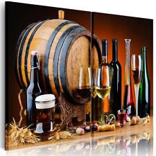 Modern Canvas Print Home Decor Wall Painting Picture Wine Barrel Unframed 2pcs
