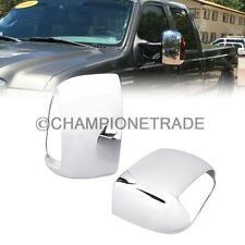 Chrome Mirror Cover Trun Single Light Hole For 99-07 Ford F250-550 Excursion CT