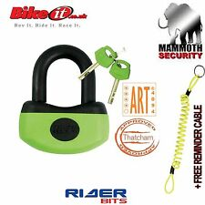 THATCHAM MAMMOTH MINI U DISK LOCK BIKEIT MOTORBIKE APPROVED 13MM CRMO HEAVY DUTY