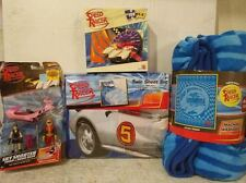 Speed Racer Twin Sheet Set, Plush blanket, Puzzle & Sky Shooter Trixie Snake Oil