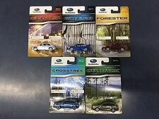 Official Genuine Subaru 1/64 Die Cast Toy 5 Car Set Wrx STi Outback Legacy NEW