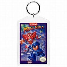 Nintendo Nes Video Game Box Cover MEGA MAN ROCKMAN 5 KEYCHAIN NEW !!!