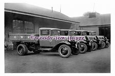 pu0974 - Great Western Railway Ford 30cwt Tipping Trucks - photograph