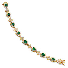 Jacqueline Kennedy 24K Gold & Rhodium Finish Crystal First Lady Bracelet 8""