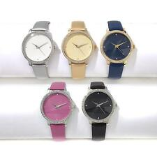 MANHATTAN BY CROTON SET OF 5 CRYSTAL BEZEL STRAP WATCHES WITH GIFT BOX! HSN