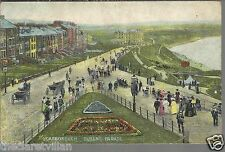 Scarborough Queen's Parade  animated horse carriage 1900s? Unposted Postcard