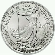 2014 1 Oz Silver Horse Privy British Britannia Coin.