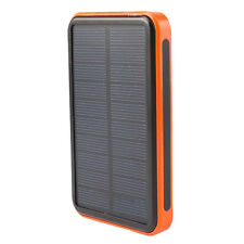 30000mAh Solar Power Bank Portable Waterproof Charger Dual USB External Battery