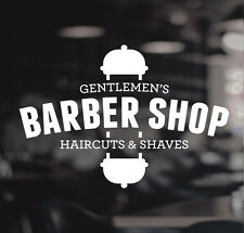 Barber Shop Gentlemens Hair Men Salon Window Vinyl Sign Sticker Lettering