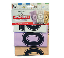 Monopoly Money Tea Towels - Pack of 3 by Gift Republic