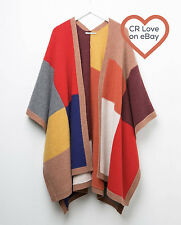 CR LOVE ❤️ 'FREE SIZE' NEW! COUNTRY ROAD PATCHWORK PONCHO 6,8,10,12,14,16,18