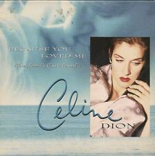 CD SINGLE 2 TITRES--CELINE DION--BECAUSE YOU LOVED ME--1996