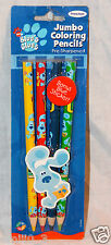 NEW BLUES CLUES JUMBO COLORING PENCILS SUPER RARE HARD TO FIND