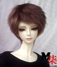 【M7】mo-hair brown WIG bjd SD MSD yo-sd 1/3 1/4 1/6 size doll use customized