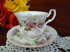 VINTAGE LAVENDER ROSE TEA CUP &  SAUCER BY ROYAL ALBERT MADE IN ENGLAND