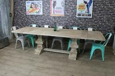 2.4M PEDESTAL TABLE EXTENDING WEATHERED RUSTIC PINE DINING TABLE THE WELLINGTON