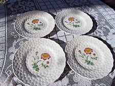 COPELAND SPODE embossed daisy luncheon plates 4 FERNLEIGH #3 PEONY A BALL signed