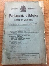 Parliamentary Debates House of Commons 1923 Housing Lace Industry Peace Treaties