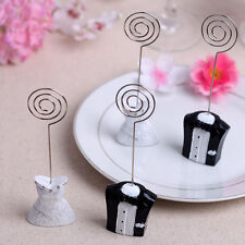 1 pair Wedding Dress Party Card Holders Place Picture Note Photo Table Name Clip