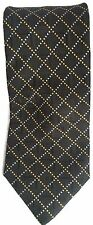 Canali Silk Tie Black Geometric Diamond Mens Necktie Made in Italy