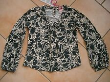 (297) Nolita Pocket Girls Shirt Bluse Tunika + Logo Druck & Ballon Ärmeln gr.116