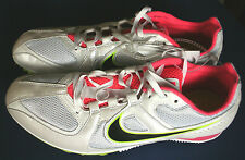 NIKE Track & Field~RIVAL MD~White & Pink~Running Shoes~ Womens 11.5~NEW