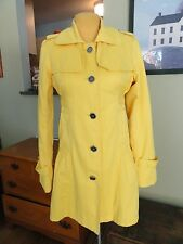 Millard Fillmore Yellow Trench Coat -S- Stunning! Loaded with Details Flattering