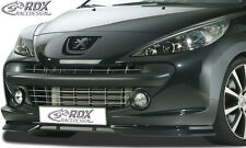 RDX FRONT SPOILER PEUGEOT 207 (-2009) Spoiler Labbro Approccio FRONT anteriore allo stato puro ABS