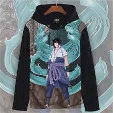 Japanese Anime NARUTO Sasuke Uchiha Unisex Pullover Sweatshirt Hoodie Coat #66