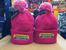 NEW HOLLAND KIDS  PINK BOBBLE BEANIE HAT