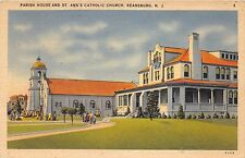 KEANSBURG NEW JERSEY PARISH HOUSE & ST ANNS CATHOLIC CHURCH POSTCARD c1940s