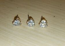 3 QVC Diamonique 10k & 14k Yellow Gold Heart DQCZ stud Earrings Jacmel Mauritius