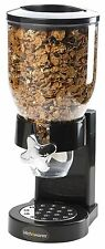 Single Chamber Airtight Cereal And Dry Food Dispenser With Built In Spill Tra...