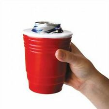 RED CUP SOLO Koozie - College Party Fun Beer Bottle Can Cup Cooler Holder