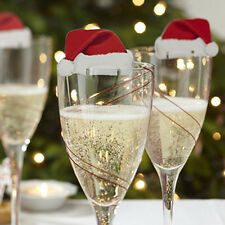 Christmas Decorations Hats 10pcs Champagne Glass Decor Paperboard Holiday Party