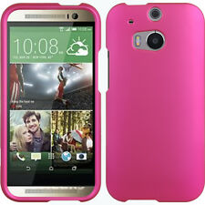 HTC One (M8) Hot Pink Crystal Rubber Case