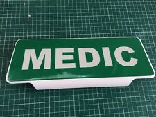 MEDIC White Text univisor Sign Sun visor Safe Response Ambulance