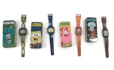 SpongeBob Squarepants Burger King Watches 2004 Viacom Tin Box Kid's Meal Toys