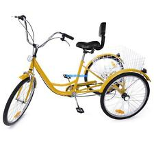 "6 Speed 24"" 3 Wheel 24inch Tricycle Trike Dreirad Cruise Bike With Basket Fender"