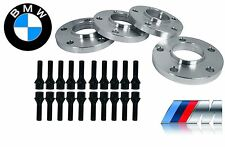 4pc BMW 5x120mm Hub-Centric Wheel Spacers 12mm Thick w/ 20 Extended Black Bolts