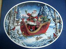 Christmas Counted Cross Dimensions GOLD Picture Holiday KIT,SANTA'S SLEIGH,8664