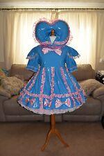 Amazing Blue PVC Adult Sissy Dress size xxl