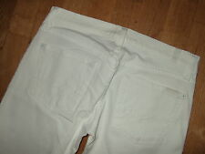 7 Seven For All Mankind Bootcut White Boot Cut Stretch Jeans 27 30.25 UK 8-10